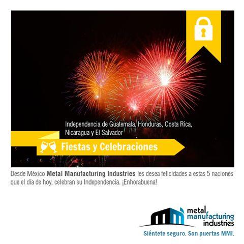 Hoy 15 de septiembre nuestros hermanos de Nicaragua, Honduras, Costa Rica, Guatemala y El Salvador festejan su independencia, ¡enhorabuena!