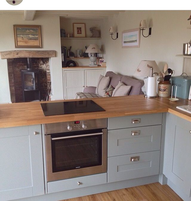 Duck Egg Blue And Grey Kitchen
