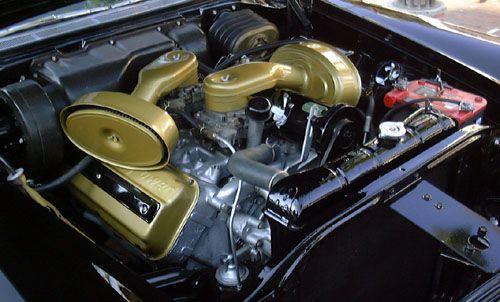 1955 300C Engine   Chrysler Hemi engine