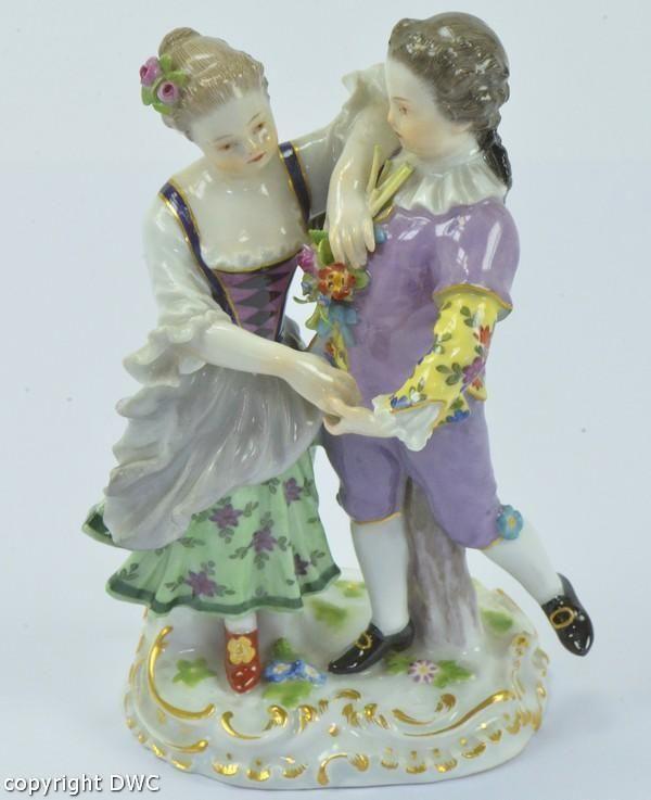 Meissenfigur Tanzpaar Junge und Mädchen original Meißen Porzellan um 1900 in Antiquitäten & Kunst, Porzellan & Keramik, Porzellan | eBay!