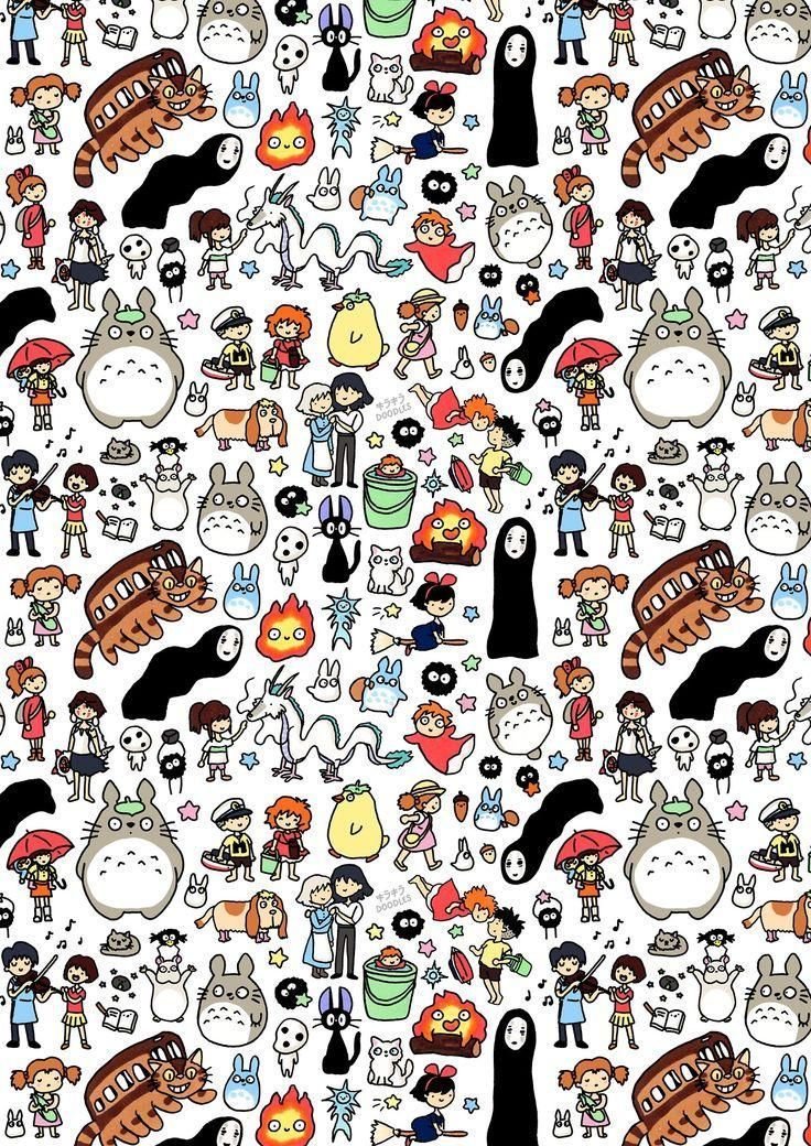 Totoro and Friends | Studio Ghibli Characters | iPhone 4 4S 5 5S 5C 6 6+ Case | Samsung Galaxy S3 S4...