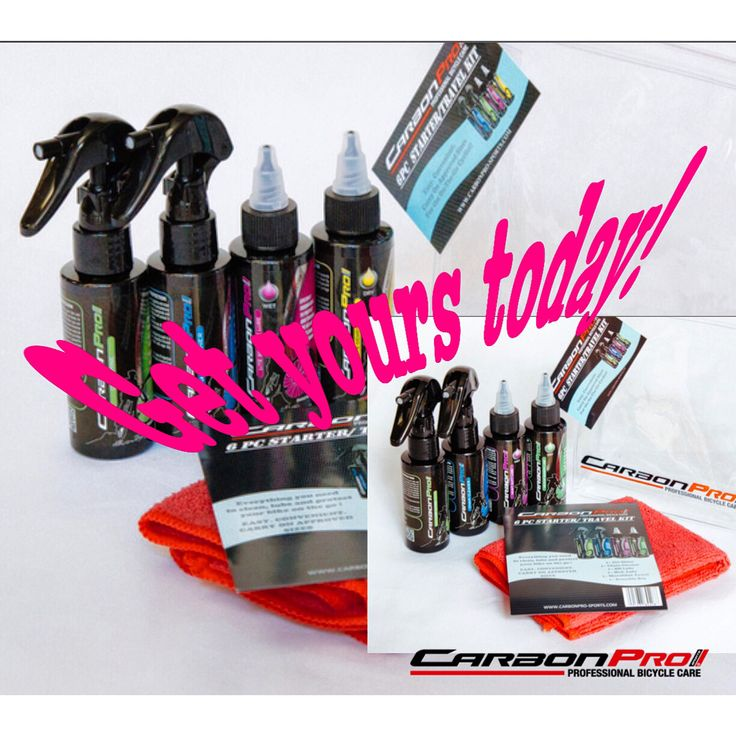 Carbonprosports products are he best for your bike and the environment! Get your starter kit today! Www.carbonpro-sports.com/shop