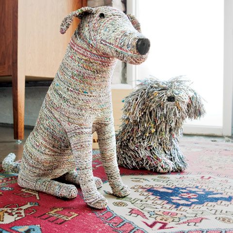 newspaper dogs - love these!!!