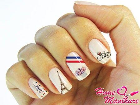 наклейки для ногтей на тему Парижа