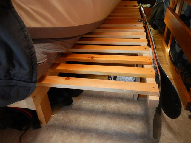 Cheap RV Living.com -Building a Sliding, Pull-Out Bed in a Van