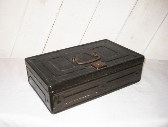 Decorative Metal Boxes With Lids : Best cool old boxes images on metal box