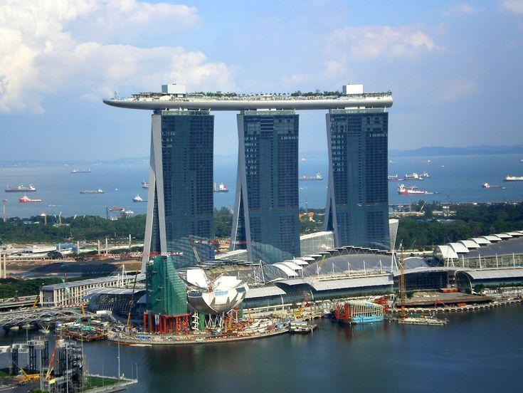 Marina Bay Sands Skybridge Singapore Cement Glass