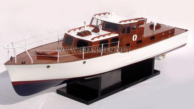 Wooden Model Boat.