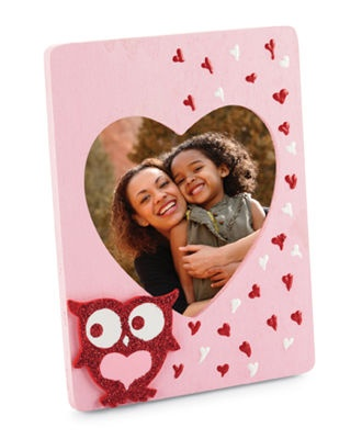 #Valentine's Day Loving Owl Frame ...  design would make a lovely photo valentine too ...