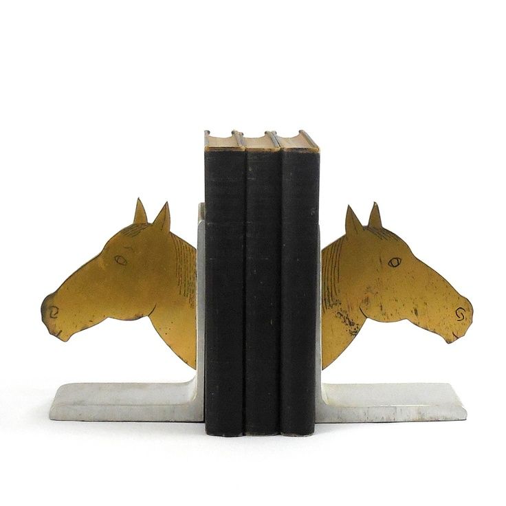 Metal Horsehead Bookends