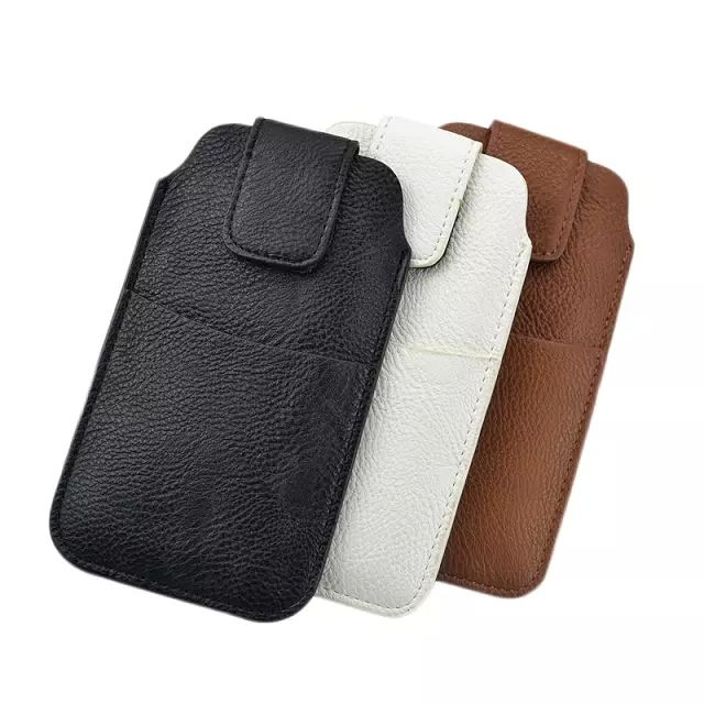 PU Leather Sleeve Pouch Waist Holster Belt Cover For Apple iPhone 7 Plus Case Tab Bag With Card Pocket Mobile Phone Case