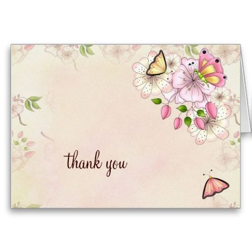 LGC | Garden Baby Shower Thank you Greeting Card