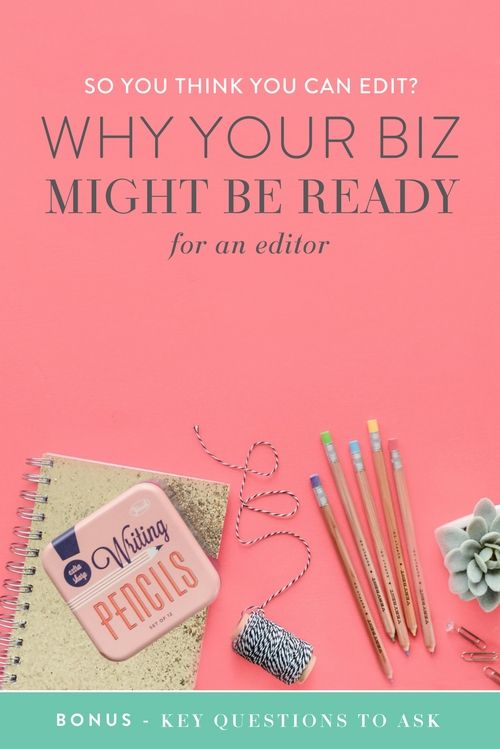 Hiring new consultants, contractors, and team members is a big step in your business, but once you're ready to take it your workload decreases and your business is able to improve in multiple ways, leaving you to work on your strengths and be the bad-ass lady boss you are (instead of the boss, chief bottle-washer and Jill-of-all-trades).  A blog editor may not have made the top of the list when you dreamed about bringing someone on to help you. But…  You only have twenty-six small letters…