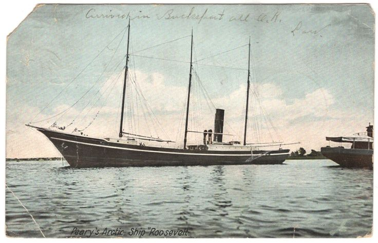 "Post Card: ROBERT PEARY'S ""ROOSEVELT,"" BARTLETT, NEWFOUNDLAND, ARCTIC C81 | eBay"