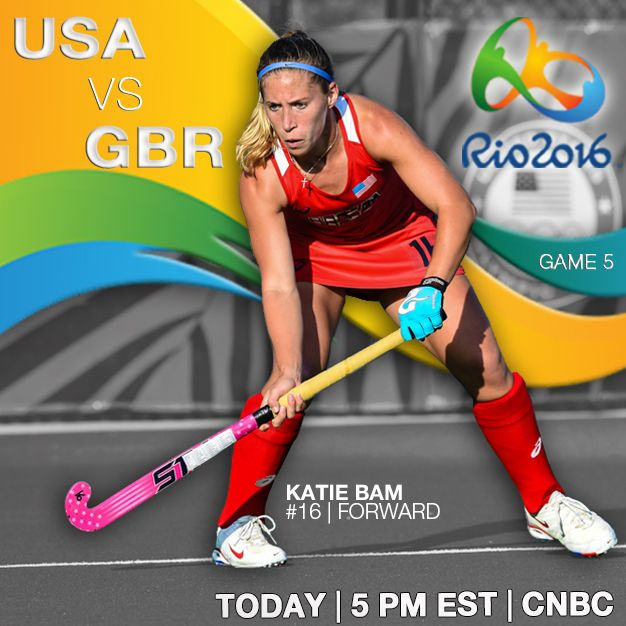The U.S. Olympic Women's Field #Hockey Team's final #Rio2016 pool play face-off is TODAY vs. Great Britain! Both teams hold undefeated records making tonight's matchup a #hockey clash you don't want to miss!