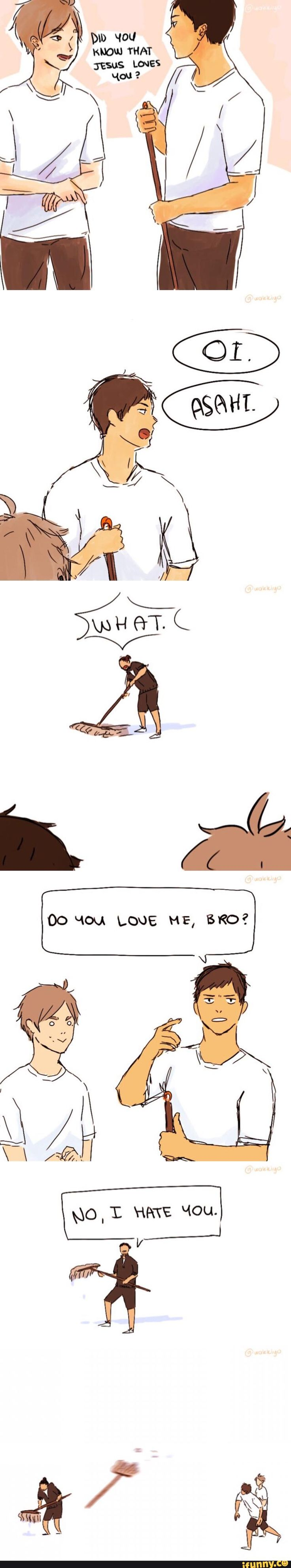 Sorry daichi but...asahi isn't jesus || David Lopez vine lol I love this vine so much