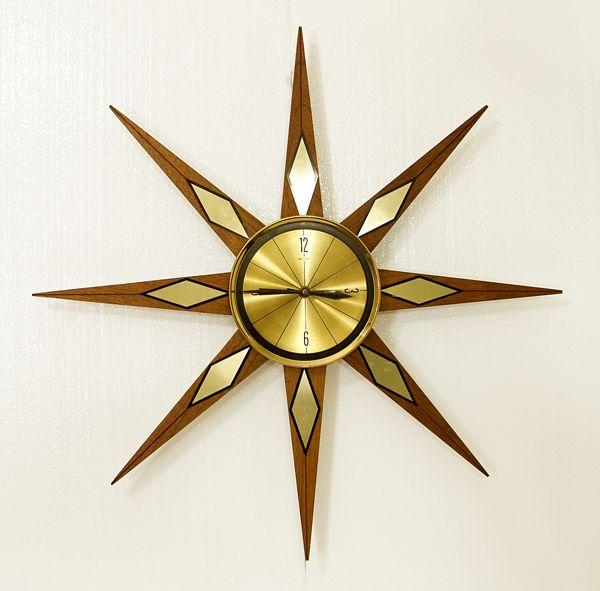 Starburst Clock Authentic 1950s With Elgin Germany