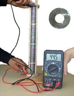 A voltaic pile. Image credit: MdeVicente/Public domain.