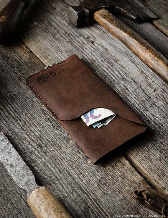 competitive price 2ebd4 262b4 Leather iPhone 6s case wallet with card pocket, Leather iPhone 8 / 8 ...