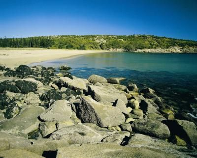 Where to find sea glass in Maine. Sand Beach in Maine's Acadia National Park is a popular sea glass hunting location.
