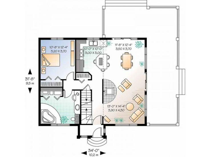 Bachelor pad house floor plans for Bachelor flat plans