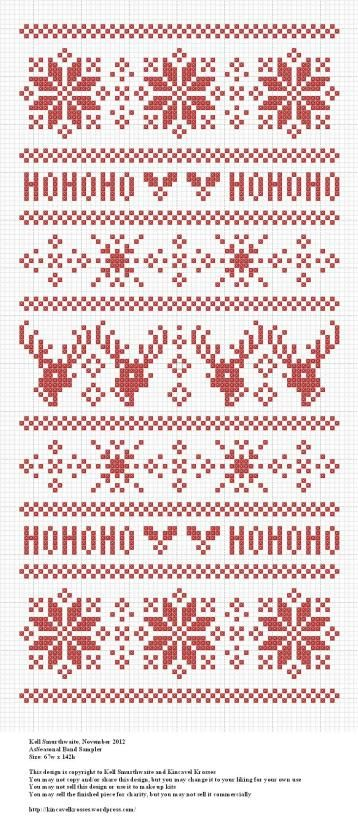 Seasonal Band Sampler | Free Cross Stitch Pattern