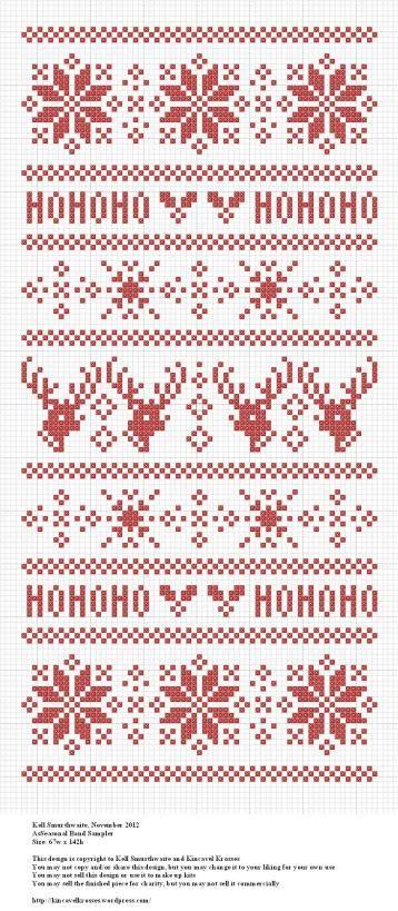 Seasonal Band Sampler   Free Cross Stitch Pattern