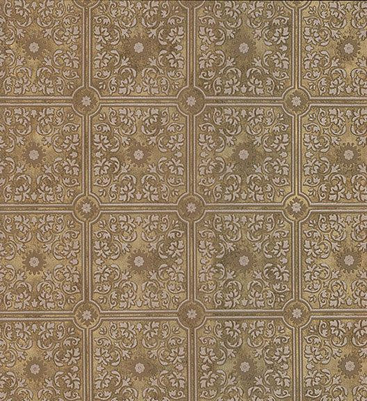 This paper has been so popular. I love it used as a backsplash and it makes a beautiful statement on the ceiling. We prefer to hang it using wallpaper paste, versus getting it wet. Embossed Tin Style Ceiling Tile Wallpaper  #Brewster