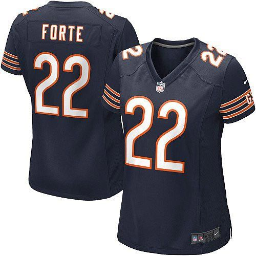 womens nike chicago bears 22 matt forte limited team color blue jersey 69.99