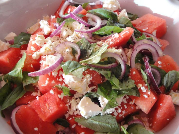 Watermeloen & Feta Salade - I am Cooking with Love
