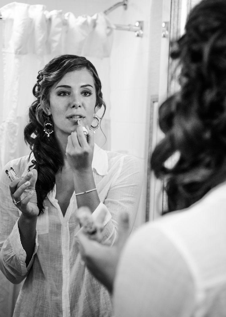 The bride getting ready for her big day! The Wedding of Katy & Scott - Beach Wedding - Kitty Hawk Pier — Caroline Martin Creative Katy&Scott_Wedding_blog022.jpg