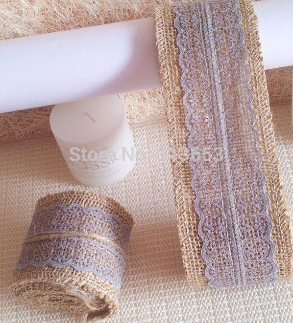 Для проведения мероприятий и ну вечеринку поставляет джут ленты ролл декор цветы венки мешковина венки украшения свадьба ремесло обертывания 60 мм х 2 м / шт