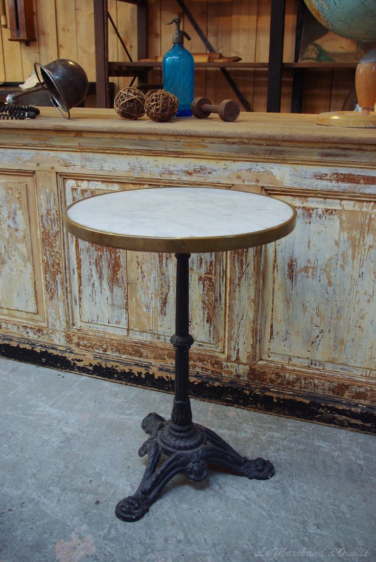 Le Marchand d'Oublis : Table bistrot - Ancienne table bistrot