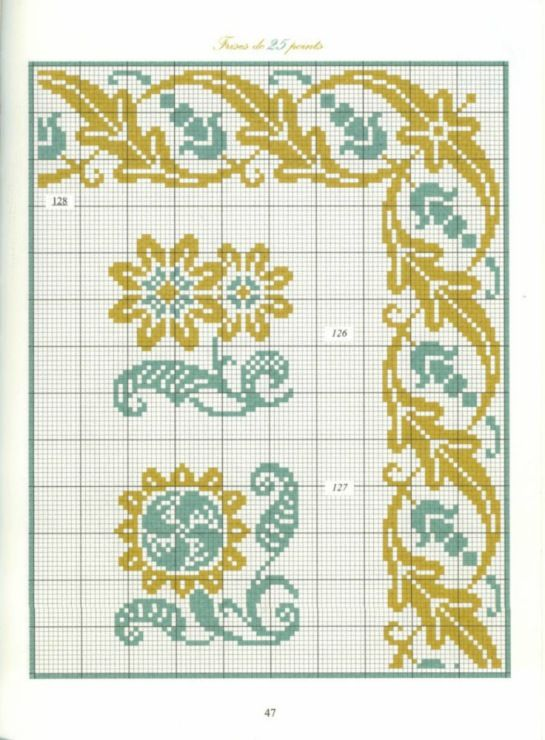 Teal & Gold Borders 21