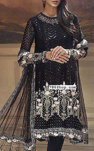 b3b7afb0d8 Black Chiffon Suit | Buy Pakistani Indian Dresses | 786Shop.com ...