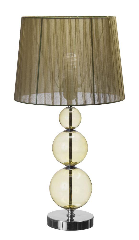 Lámpara de mesa de noche.  Color verde.