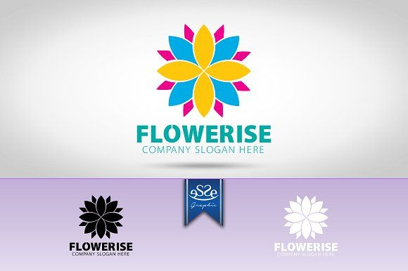 Flower Logo by eSSeGraphic on @creativemarket