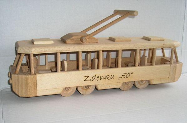 Dřevěné hračky obchod Praha  tramvaj