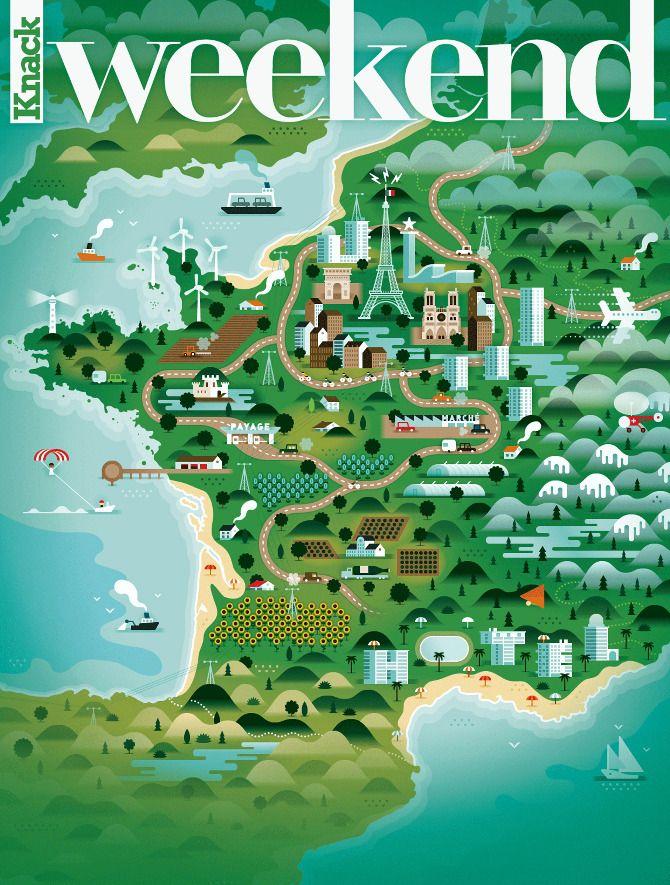 Weekend Knack Magazine Covers / Khuan + Ktron | Design Graphique
