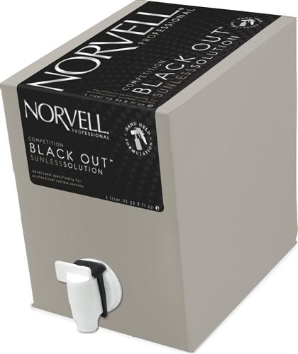 Norvell Competition Black Out Spray Tan Solution, 34 oz
