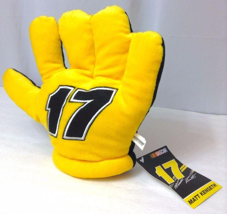 New MATT KENSETH 17 FAN HAND Black Yellow Nascar Stuffed