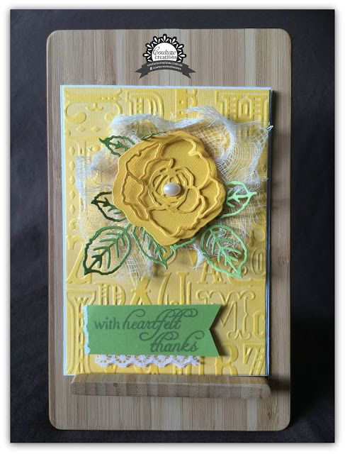 Down Sunflower Lane: With Heartfelt Thanks card - Couture Creations