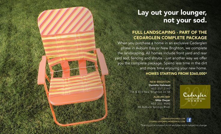 Lay out your lounger - Cedarglen