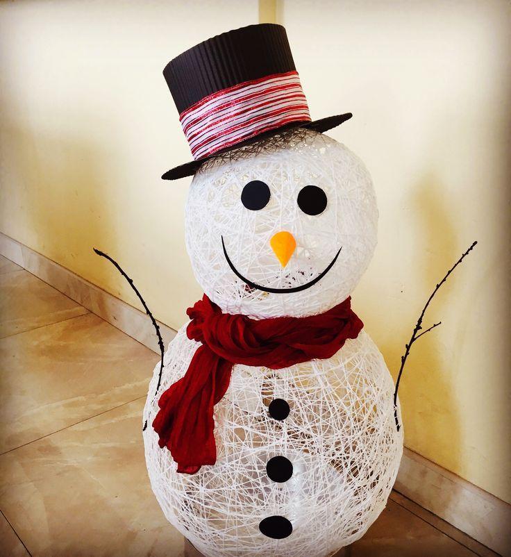 будет снеговик из ниток своими руками пошаговое фото только качественные фотографии