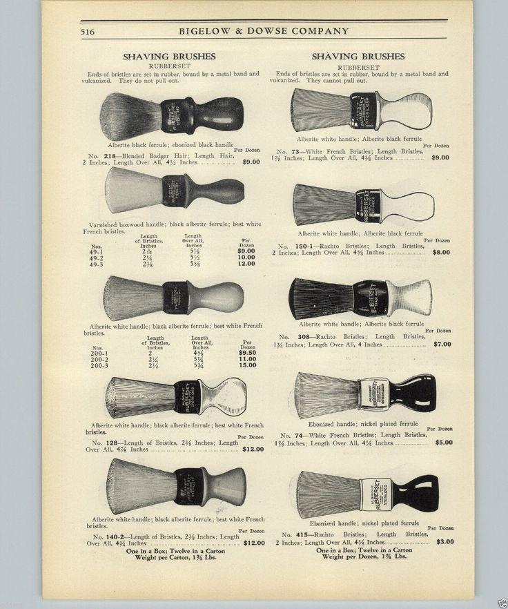 1925 PAPER AD 2 Sided Ruberset Shaving Brush Brushes 20 Imaes Models | eBay