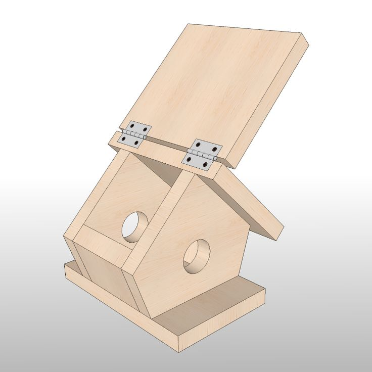 Simple Birdhouse Woodworking Plan by Sawtooth Ideas #woodworking