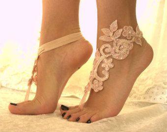 regalo de 5 pares de Dama de honor marfil o pies por byPassion