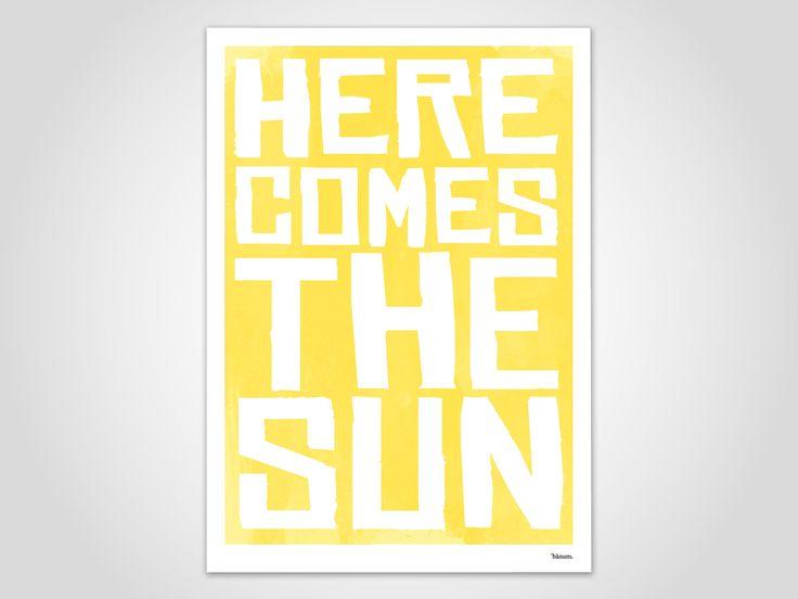 Sun / Poster, Kunstdruck, Bilder, Deko, skandinavisch, Papier, Pastell, Marmor, Sommer, minimalistisch, lustige Sprüche, Sonne, Urlaub, Meer