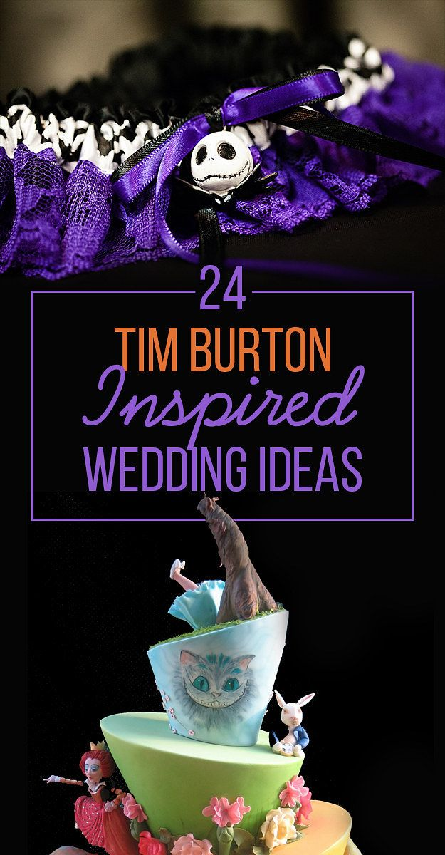 24 Completely Bewitching Tim Burton Inspired Wedding Ideas - perfect for this…