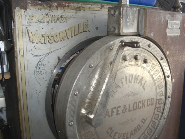 old door and locks | Antique Safes: old safe, vault doors, three locks